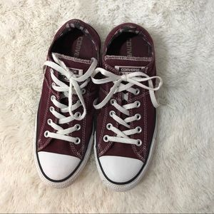 Converse Maroon All Star Low Top
